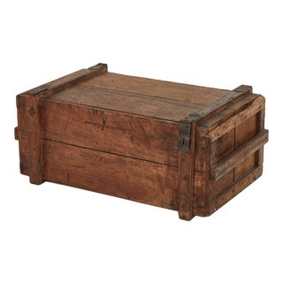 19th Century Rustic Chest as a Coffee Table For Sale