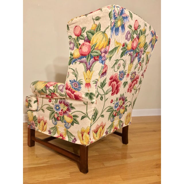 1950s Newly Upholstered Georgian Style Wingback Chairs - a Pair For Sale - Image 5 of 11