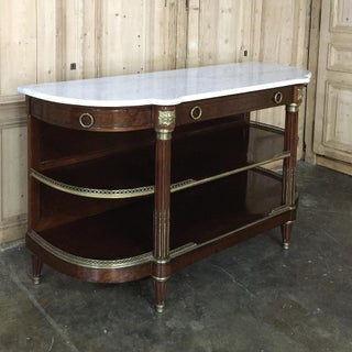 19th Century Parisienne Signed ~Mercier ~ Carrara Marble Top Display Buffet Preview