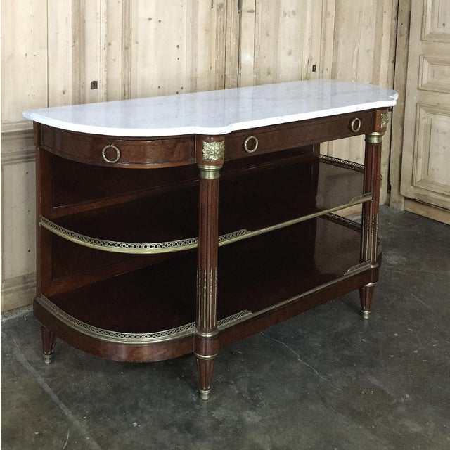 Finding an19th Century Parisienne Mercier Marble Top Display Buffet is a rare occurence, and one in which we revel, as the...