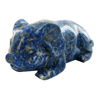 Lapis Lazuli Pig Figurine For Sale