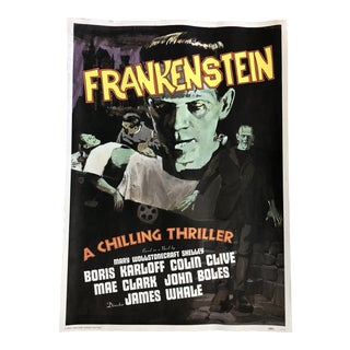 1970s Frankenstein 1931 Movie Poster Reproduction Lithograph For Sale