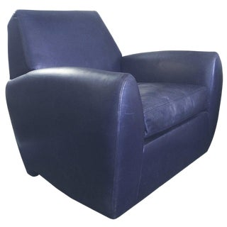 Dakota Jackson Leather Swivel Chair For Sale