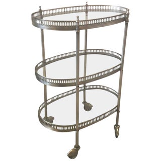 20th Century Contemporary Small 3-Tiered Drinks Beverage Cart For Sale