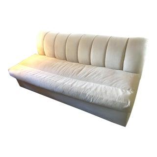 Kreiss White Microfiber Sofa