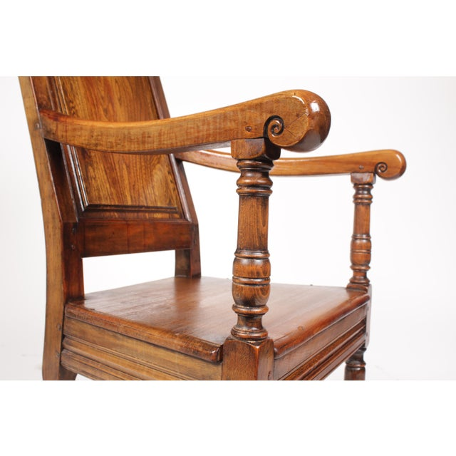 Elizabethan-Style Raised Panel Armchair - Image 4 of 8