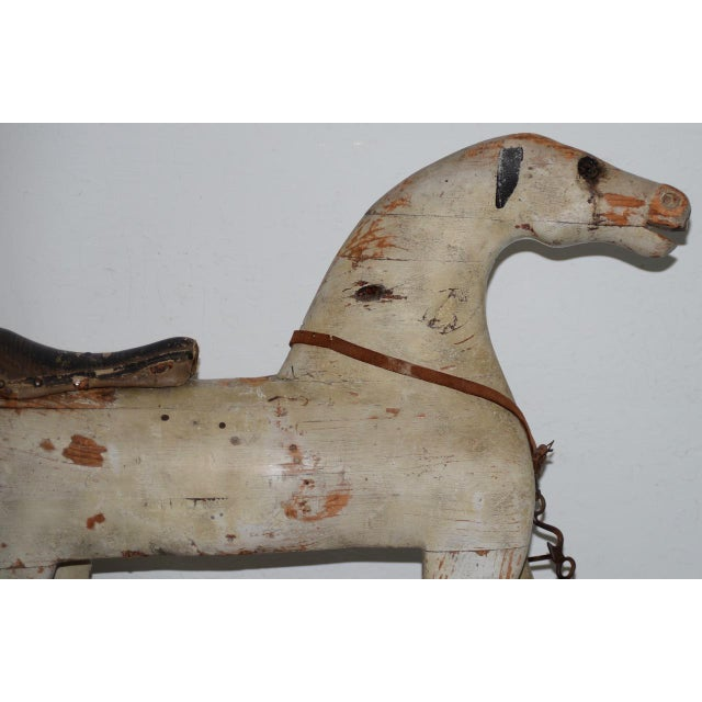 Mid 19th Century 19th Century American Folk Art Rocking Horse For Sale - Image 5 of 11