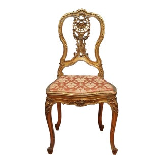 Giltwood Slipper Chair For Sale