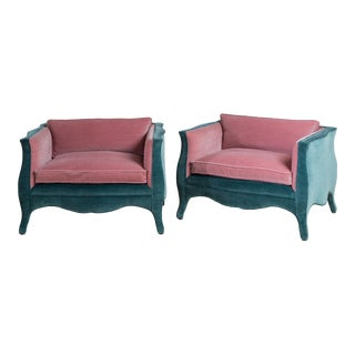 A Customizable Standard Pair of French Style Armchairs by Talisman Bespoke For Sale