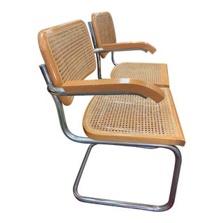 Mid-Century Tan Chairs - a Pair For Sale