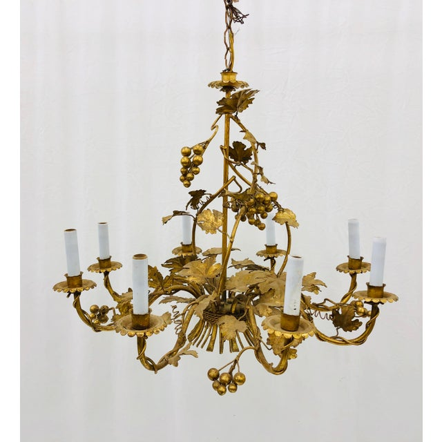 Antique French Gilded Ivy Chandelier For Sale - Image 11 of 13