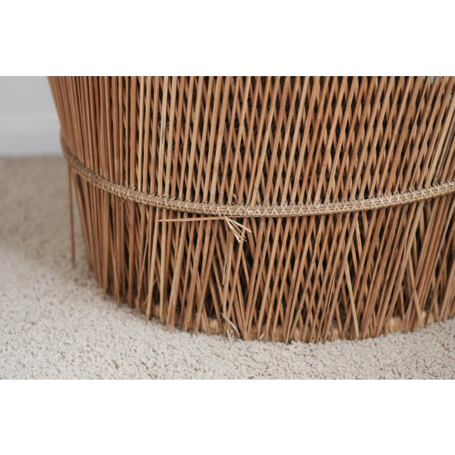 Vintage Rattan and Wicker Peacock Chair For Sale - Image 9 of 10