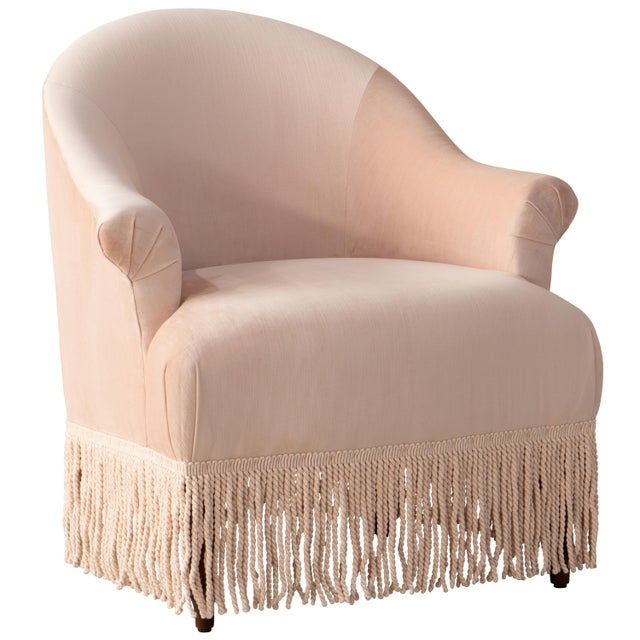 Light Pink Fringe Chair in Titan Pink Champagne For Sale - Image 8 of 8