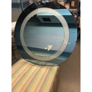 Blue Tinted Round Wall Mirror Preview