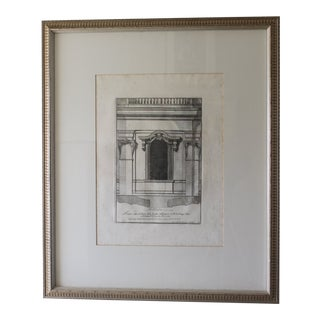 Early 19th Century Antique Finestra Sopra La Porta Architectual Print For Sale