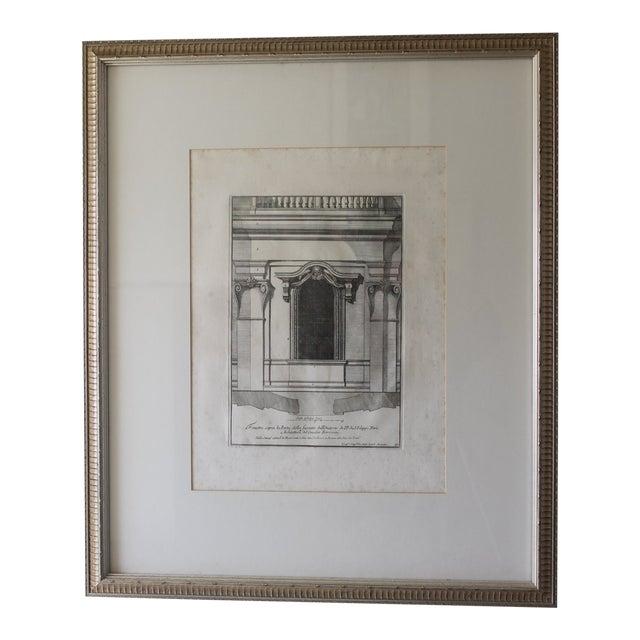 Early 19th Century Antique Finestra Sopra La Porta Architectual Print For Sale