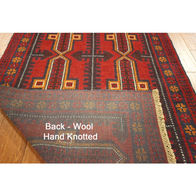 "Persian Balouch Hand Made Wool Rug - 3'5"" x 6'4"" - Image 3 of 3"