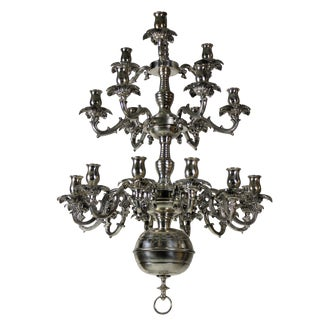 A French Silver Chandelier For Sale