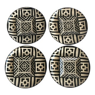 Hand Painted Moorish Plates - Set of 8 For Sale