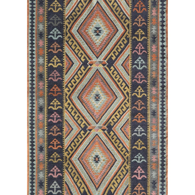 """Contemporary Momeni Caravan Hand Woven Multi Wool Area Rug - 5' X 7'6"""" For Sale - Image 3 of 3"""