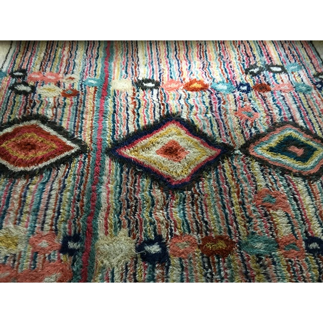 "West Elm Moroccan ""Charm"" Colorful Wool Area Rug- 8' X 10"