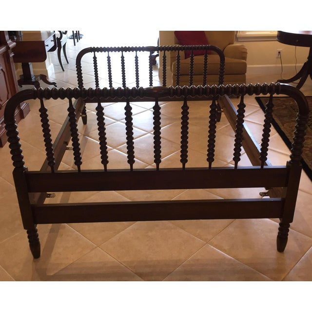 Antique Jenny Lind Full Sized Spindle Wood Bed Frame Chairish