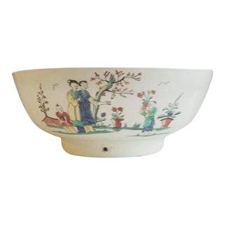 Creamware Pottery Sailor's Farewell Bowl For Sale
