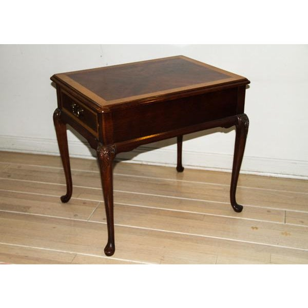 """Vintage Thomasville """"Mahogany Collection"""" End Table - Image 5 of 10"""
