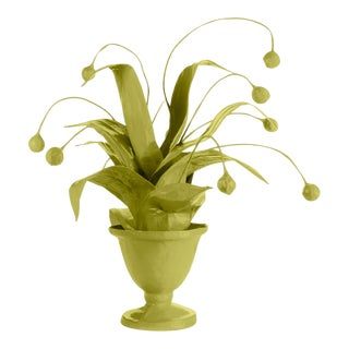 Stray Dog Designs for Chairish Crunchberry Faux Plant, Parakeet Green For Sale