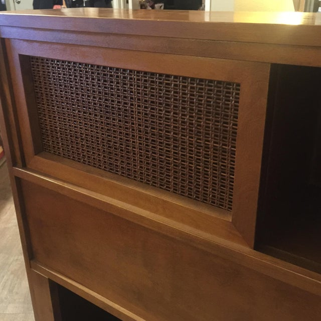 Russell Wright for Conant Ball Full Size Bookcase Headboard For Sale In Austin - Image 6 of 8