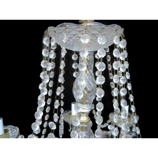 Shabby Chic Crystal Waterfall Chandelier For Sale - Image 3 of 8