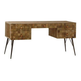 Modern Reclaimed Wood Desk For Sale
