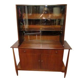 1960s Vintage Danish Modern China Cabinet For Sale