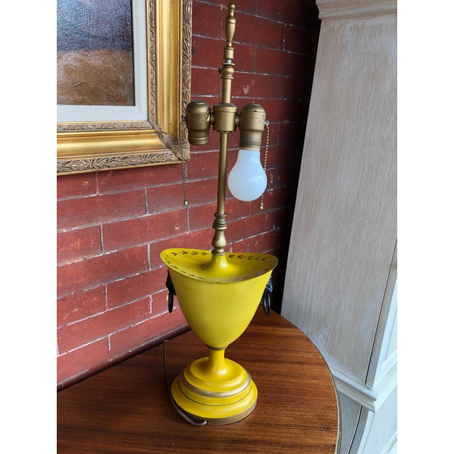 Warren Kessler Painted Metal Urn Lamps - a Pair For Sale - Image 10 of 12