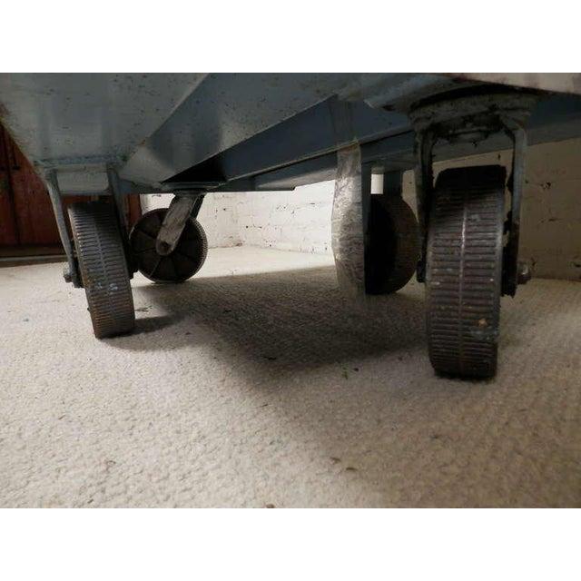 Metal Large Industrial Metal Rolling Cart For Sale - Image 7 of 9