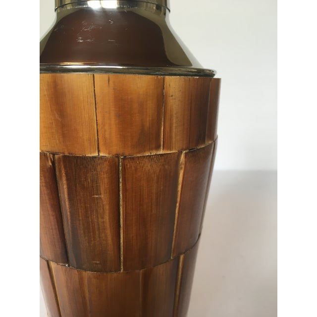 Vintage Bamboo Cocktail Shaker For Sale - Image 5 of 6