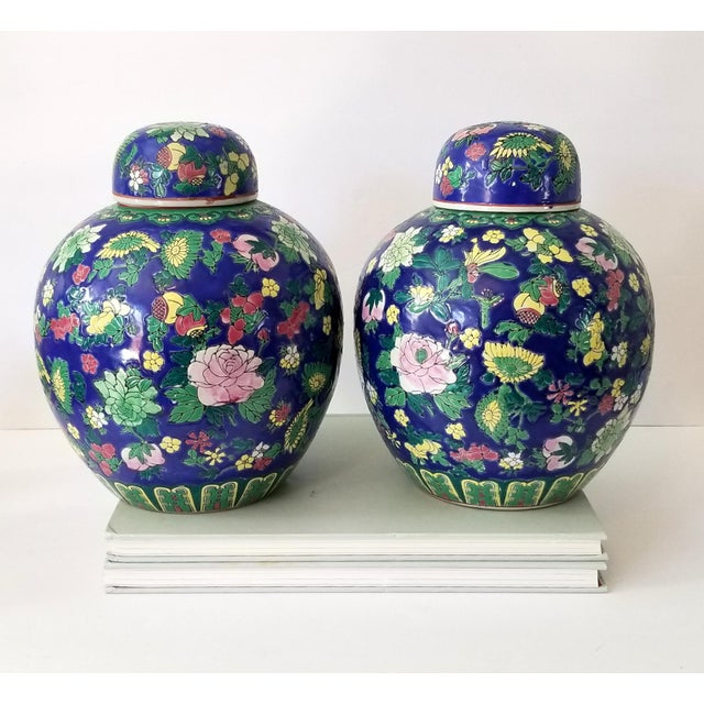 Contemporary Asian Ginger Jars - a Pair For Sale - Image 11 of 11