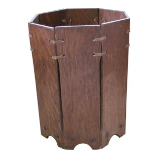 Stickley Style Waste Basket by Lakeside Craft Shop Mission & Arts and Crafts Style For Sale