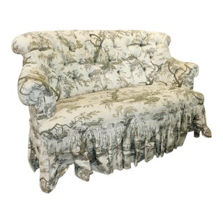 Brunschwig & Fils Upholstered Tufted French Style Loveseat
