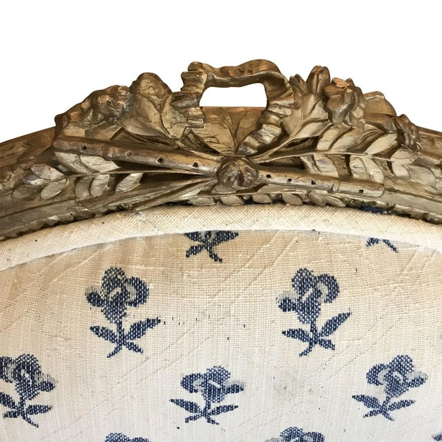 19th Century French Louis XVI Style Giltwood Fauteuils For Sale In Los Angeles - Image 6 of 8