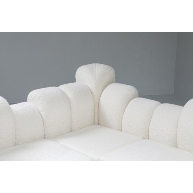 Hans Hopfer 'Dromedaire' Sectional Sofa in Pierre Frey Wool, Roche Bobois - 1974 For Sale - Image 10 of 12