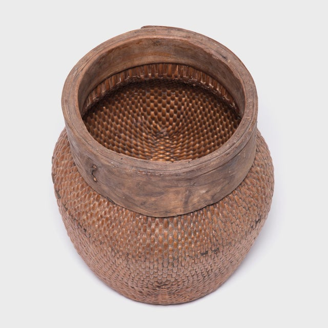 Early 20th Century Chinese Rimmed Fisherman Basket For Sale - Image 5 of 7
