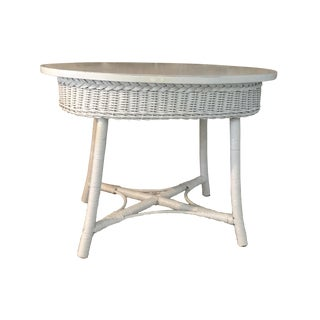 Smaller Wicker Vintage Table For Sale