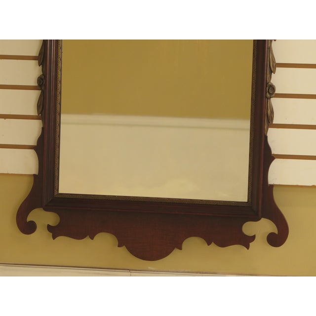 Chippendale Kindel Vintage Mahogany Chippendale Wall Mirror For Sale - Image 3 of 11