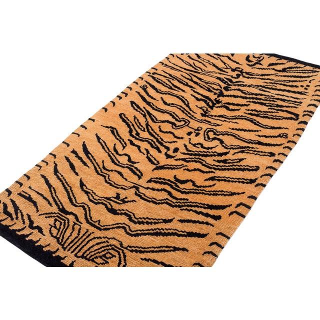 """Joseph Carini Wool Tibetan Tiger Rug by Carini-3'x5'10"""" For Sale - Image 4 of 8"""
