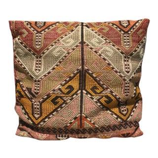 Vintage Kilim Handwoven Pillow For Sale