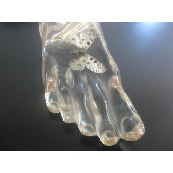 Fornasetti 1960s Vintage Acrylic Foot Sculpture For Sale - Image 4 of 8