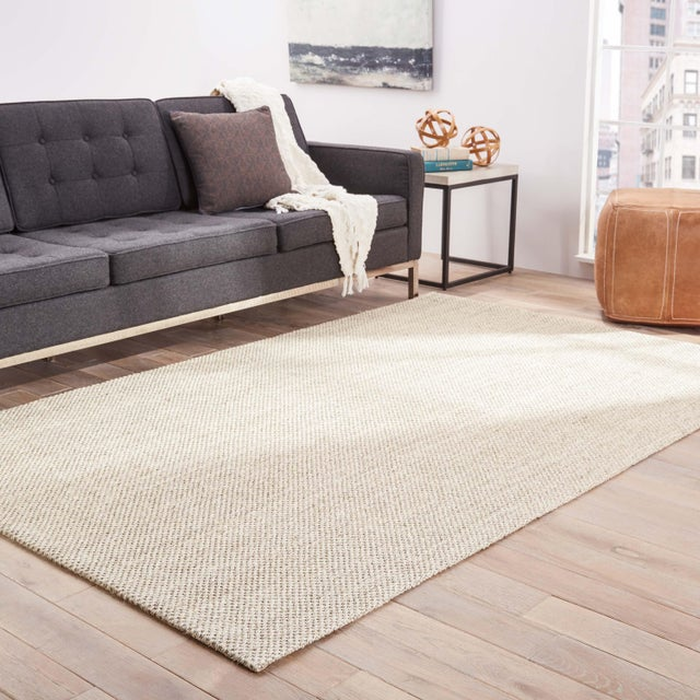 2010s Jaipur Living Naples Natural Solid Taupe Area Rug - 9' X 12' For Sale - Image 5 of 6