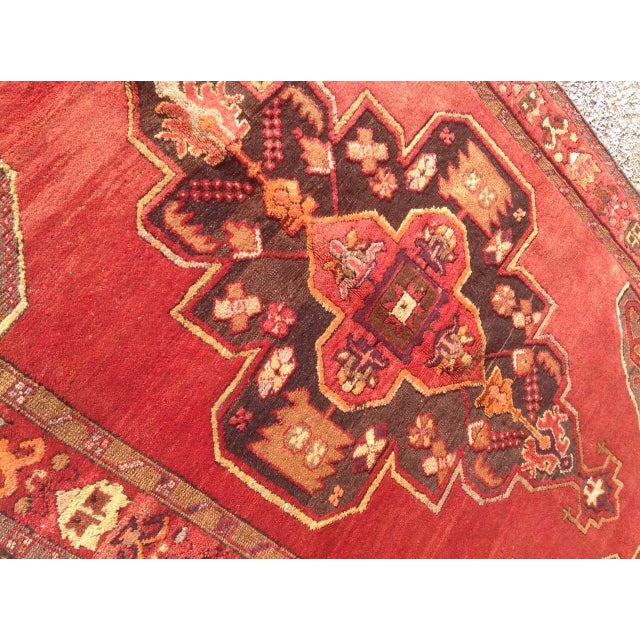 """1940s Vintage Hand Knotted Anatolian Rug - 4'2"""" x 13'5"""" - Image 5 of 8"""