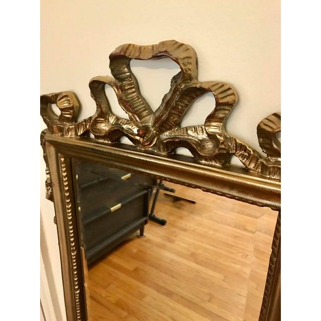 Late 20th Century Carolina Mirror Company Gilt Wall Mirror For Sale - Image 5 of 7